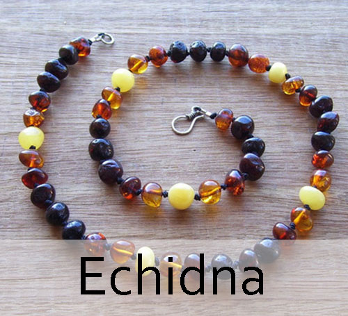 Selkie Designs Amber Necklace Echidna