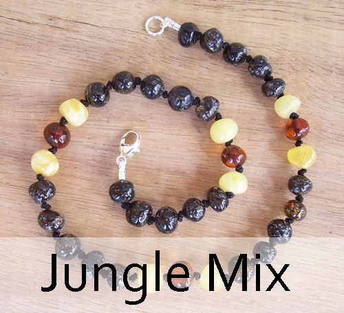Selkie Designs Amber Necklace Jungle Mix