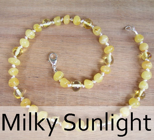 Selkie Designs Amber Necklace Milky Sunlight