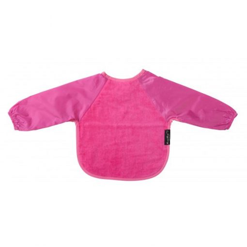 Mum2Mum Large Long Sleeved Bib Cerise
