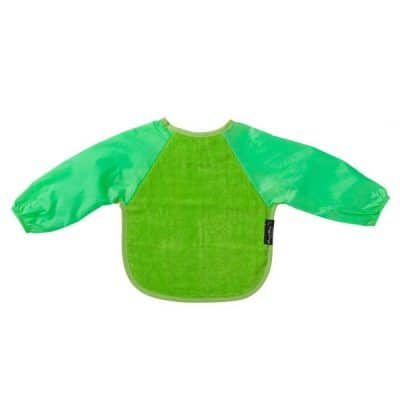 Mum2Mum Small Long Sleeved Bib Lime
