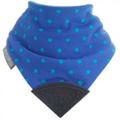 Neckerchew - Polka Dot Blue Front