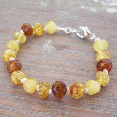 Selkiedesigns Baltic Amber Bracelet Beach