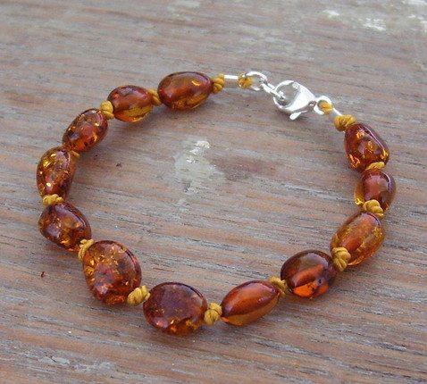 Selkiedesigns Amber Bracelet Cognac Beans