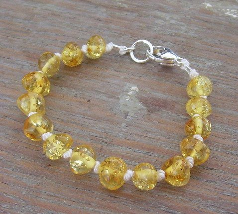 Selkiedesigns Amber Bracelet Champagne Sparkle