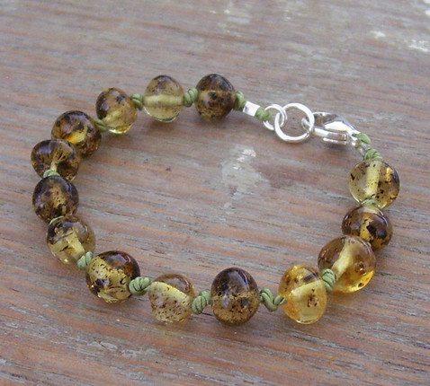Selkiedesigns Amber Bracelet Lime
