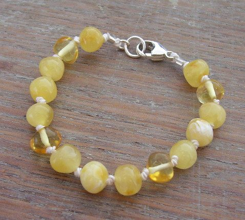Selkiedesigns Baltic Amber Bracelet Milky Sunlight