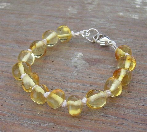 Selkiedesigns Amber Bracelet Champagne