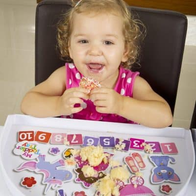 Toosh Coosh Toddler Tray - Girl Eating