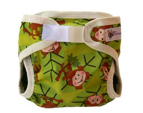 Baby BeeHinds Nappy Cover - Monkey Fun