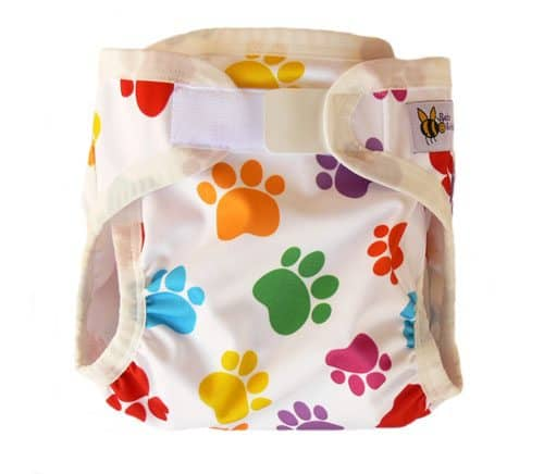 Baby BeeHinds Nappy Cover - Paw Print Palette