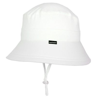 Bedhead baby bucket hat white