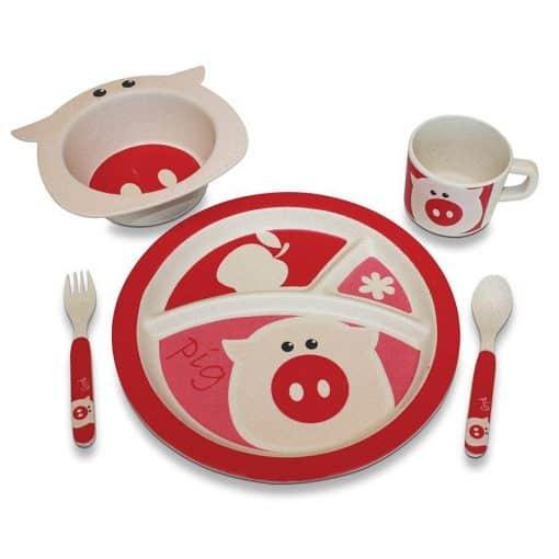 eBamboo Pig Dinner Set