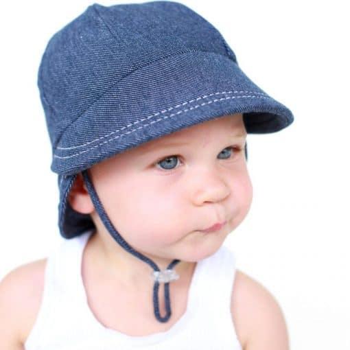 Bedhead Legionnaire Hat with Strap - Denim