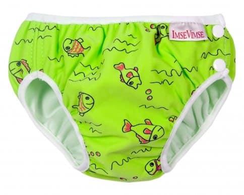 Imse Vimse Swim Nappy - Green Fish