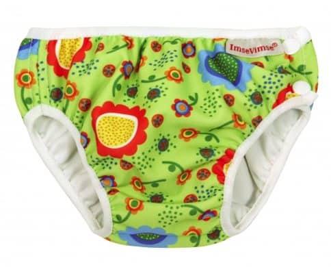 Imse Vimse Swim Nappy - Green Flower