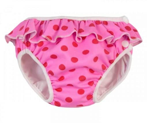 Imse Vimse Swim Nappy - Pink Dot with Frill
