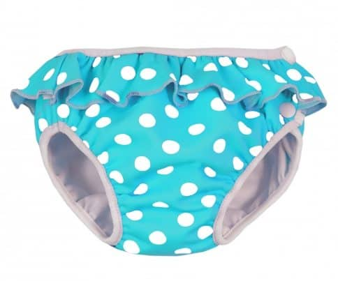 Imse Vimse Swim Nappy - Turquoise Dot with Frill