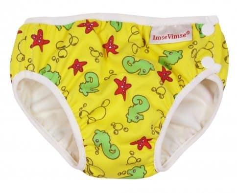 Imse Vimse Swim Nappy - Yellow Seahorse