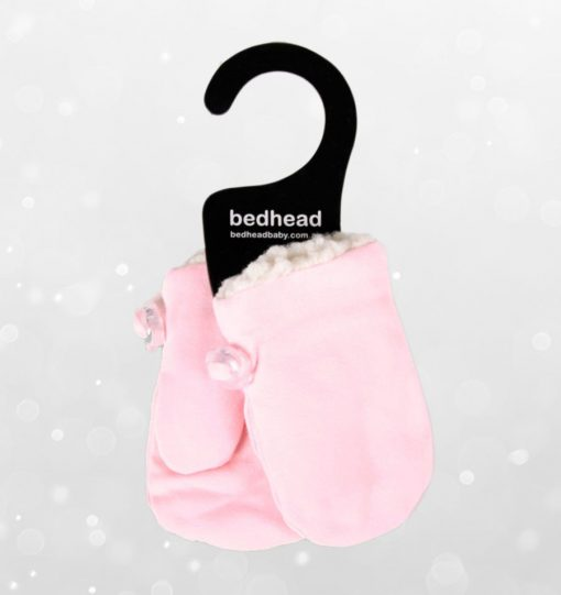 Bedhead Winter - Fleecy Infant Mittens - Baby Pink