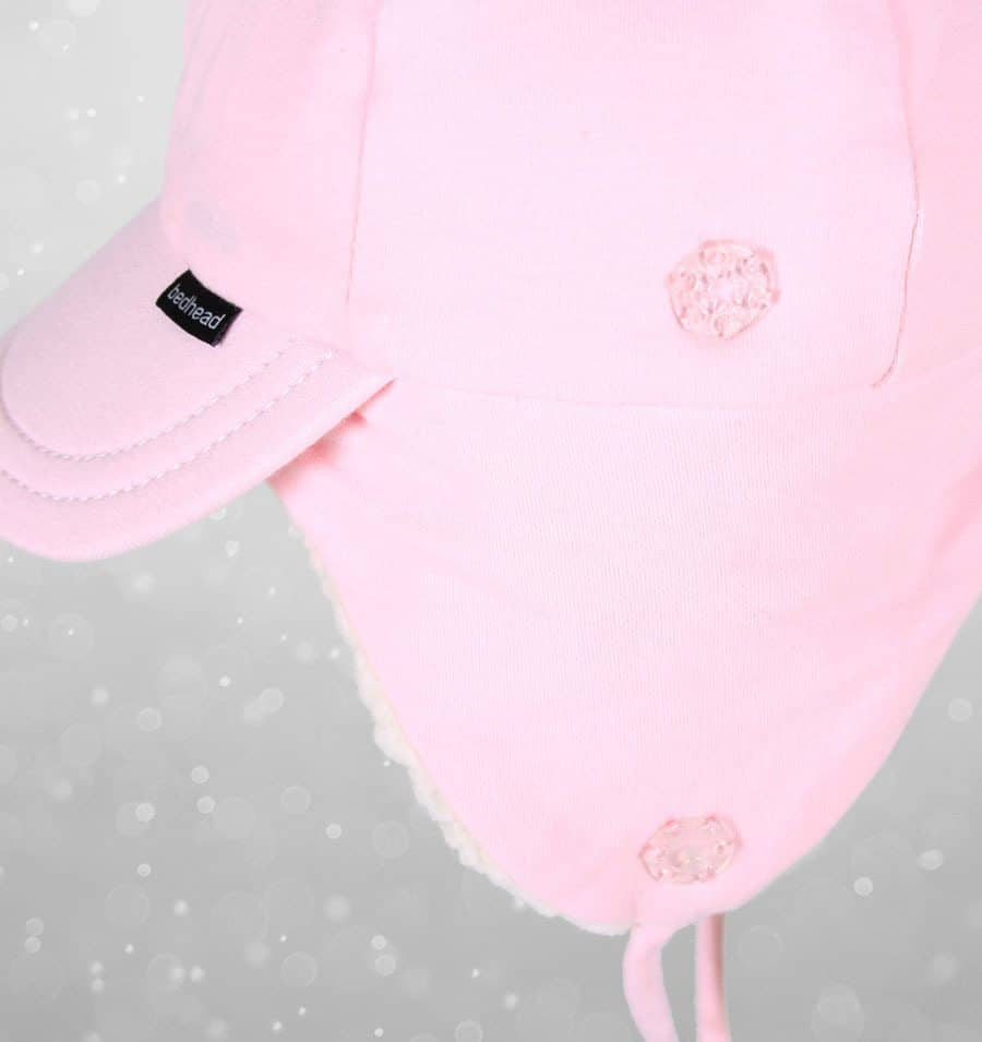 Bedhead Winter - Fleecy Legionnaire with Strap - Baby Pink - 1-3 years