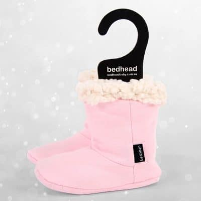 Bedhead Winter - Fleecy Sleepy Bootie- Baby Pink