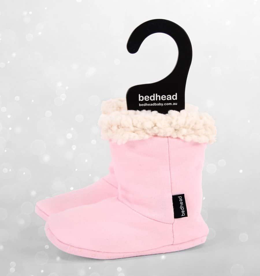 Bedhead Winter - Fleecy Sleepy Bootie- Baby Pink
