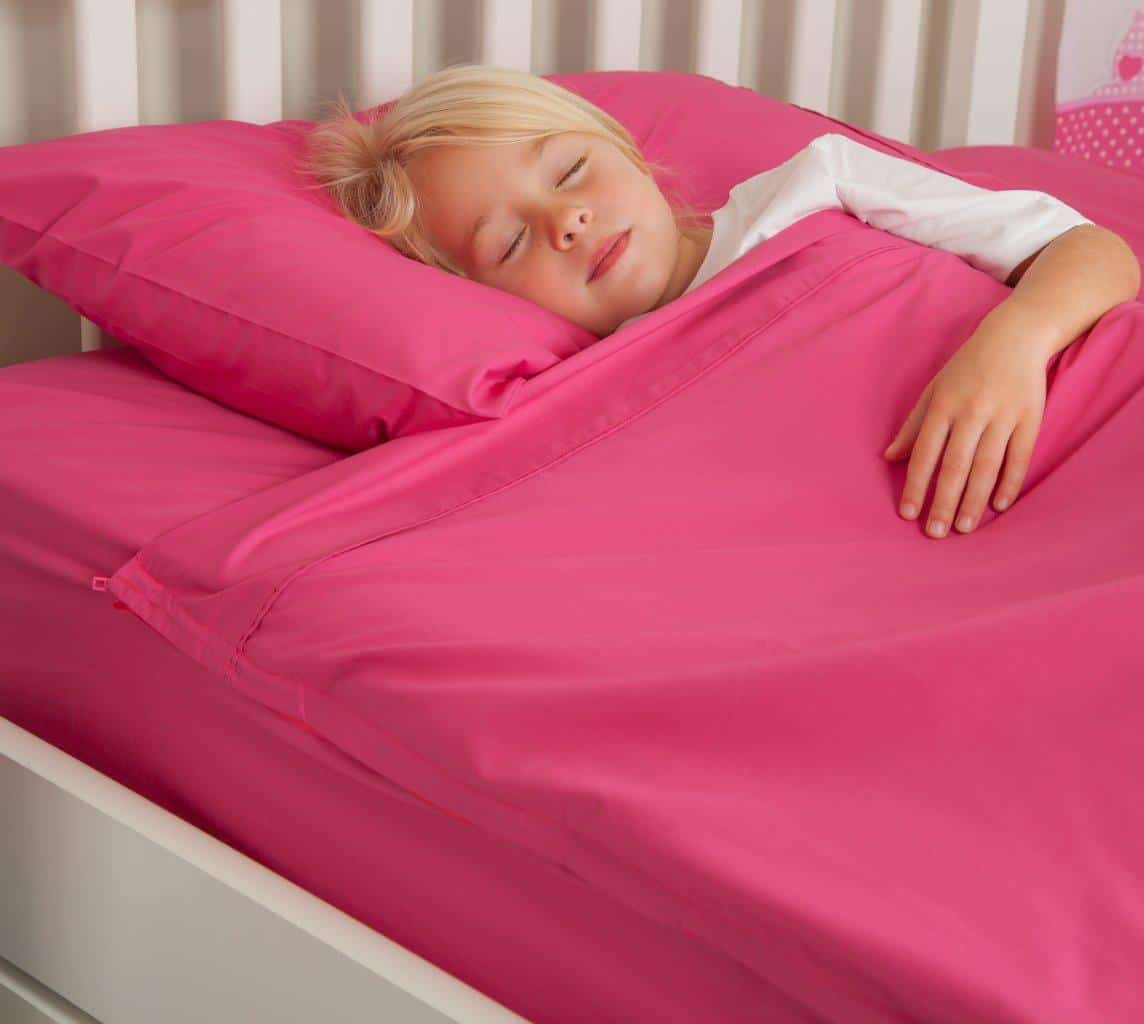 Kids Zip Sheets   Pink