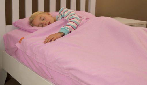 Kids Zip Sheets - Pink Flannelette