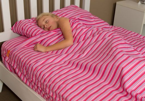 Kids Zip Sheets - Pink Stripes