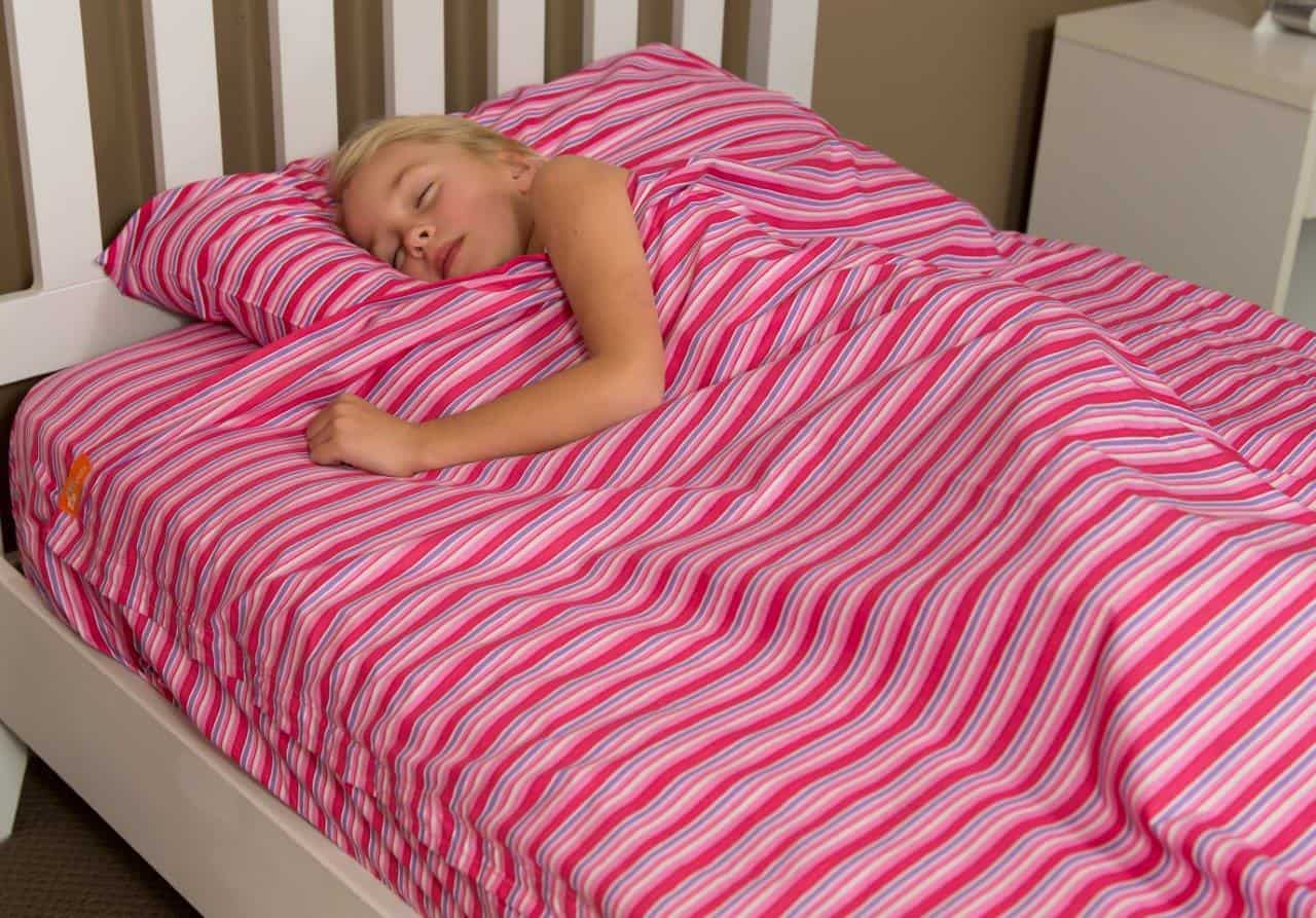 Superbe Kids Zip Sheets   Pink Stripes