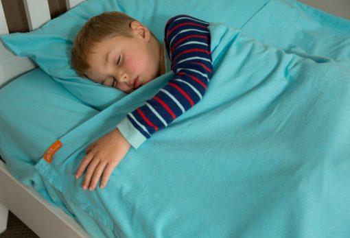 Kids Zip Sheets - Blue Flannelette