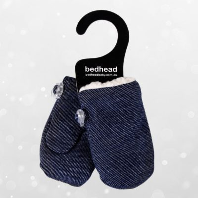 Bedhead Winter - Fleecy Infant Mittens - Denim