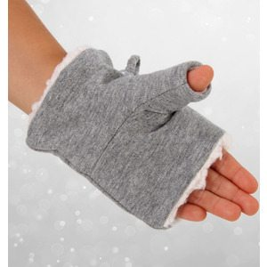 Bedhead Winter - Fleecy Fingerless Mittens - Example